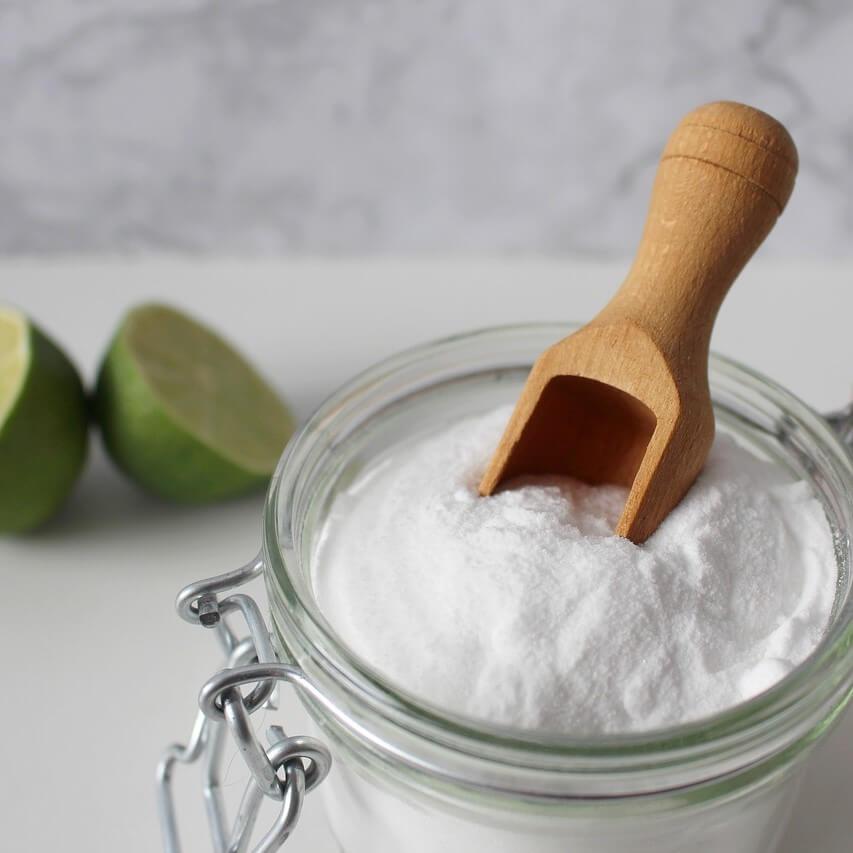 bicarbonato alimentare e lime