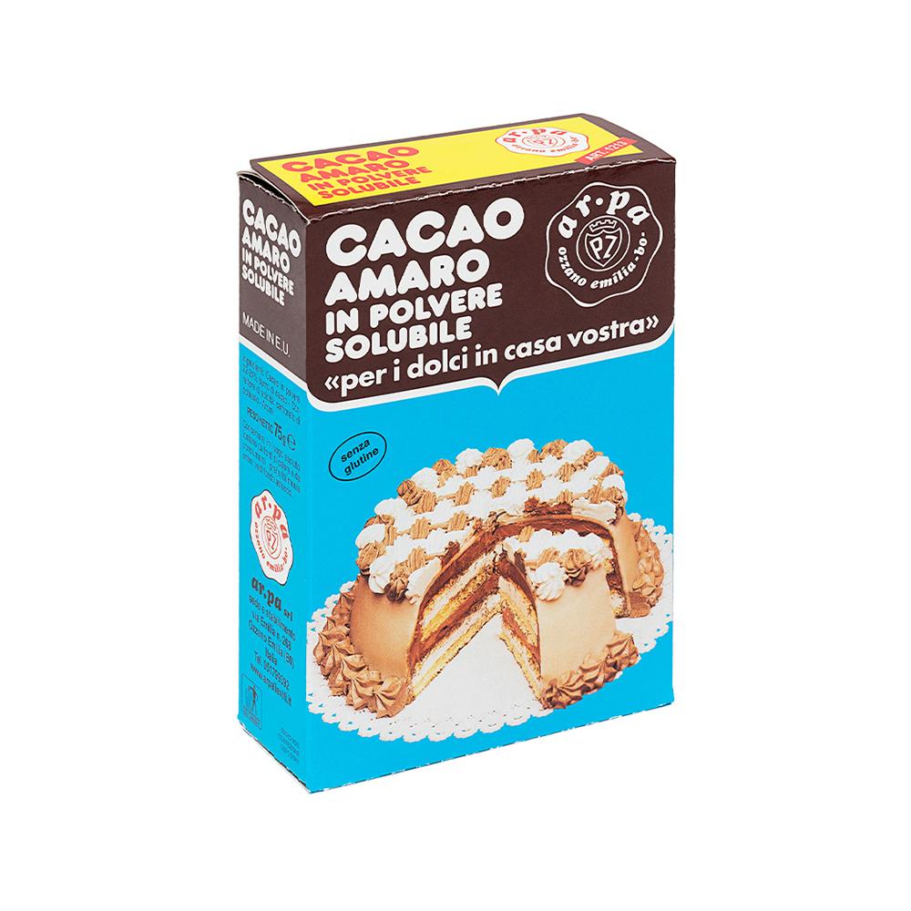 Packaging del prodotto cacao amaro in polvere Ar.pa Lieviti.