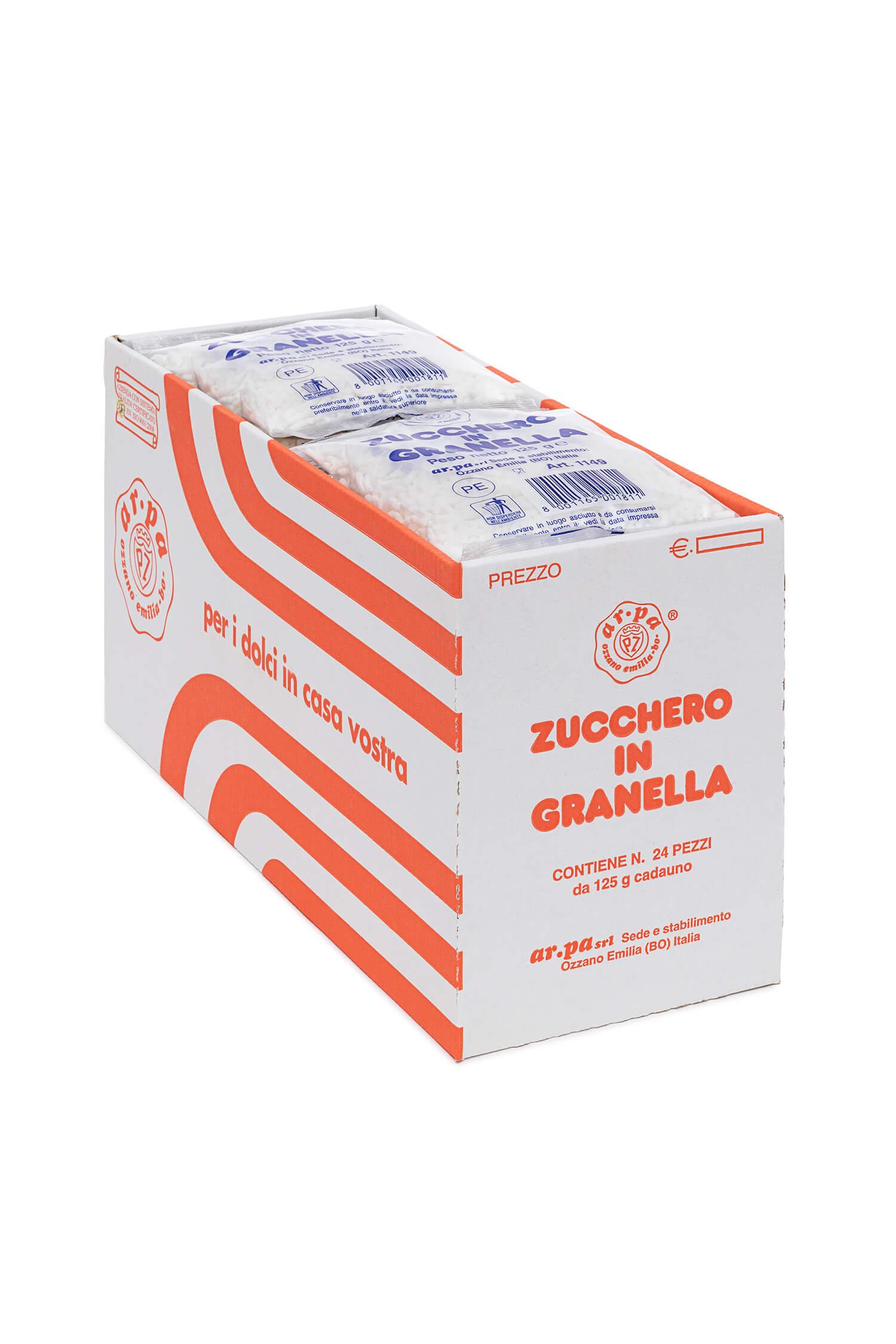 Packaging del prodotto zucchero in granella