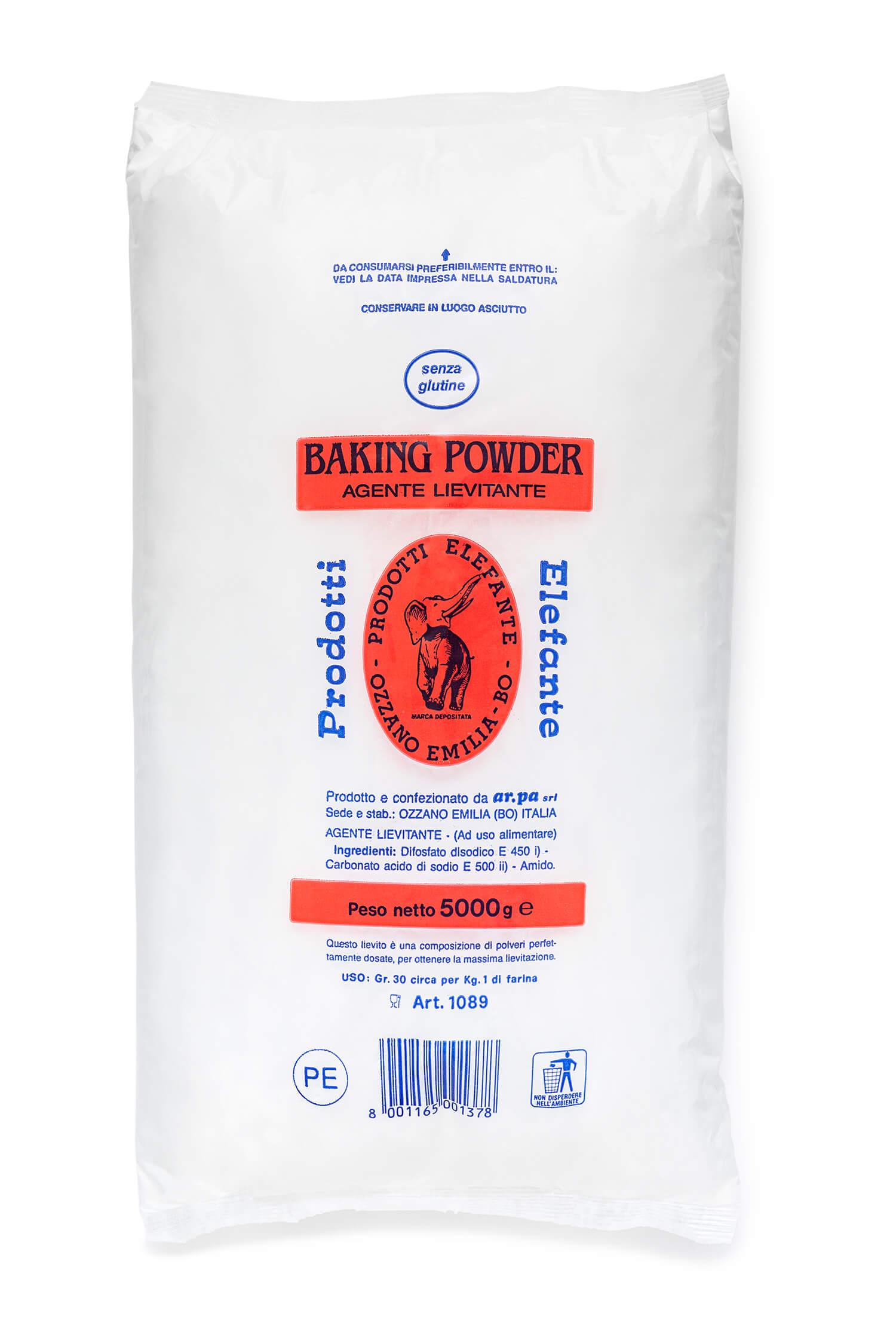 Packaging del prodotto Lievto Baking Elefante