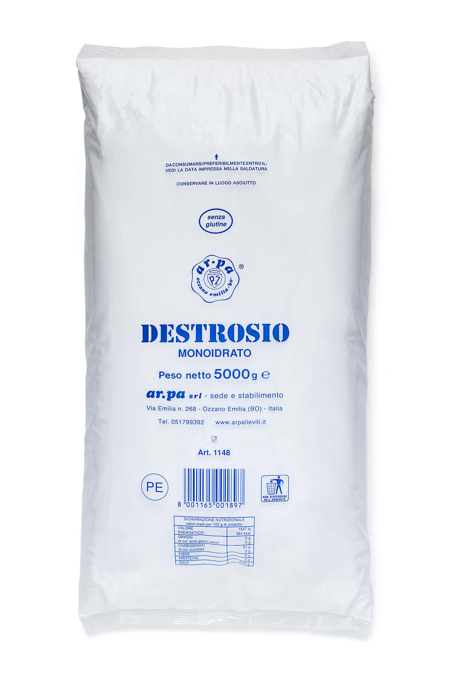 Packaging del prodotto Destrosio Monoidratato