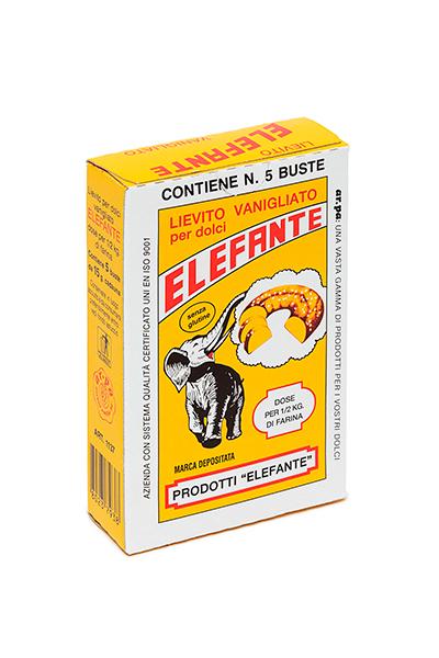 Packaging del prodotto Lievito Vanigliato Elefante