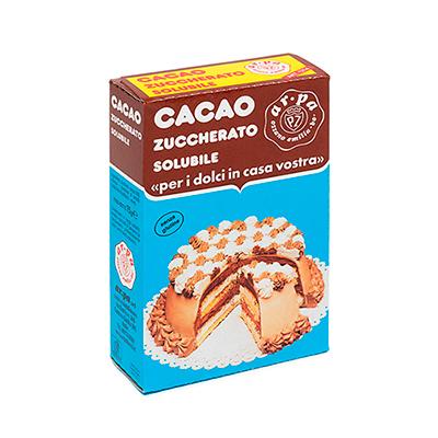 Packaging del prodotto cacao zuccherato solubile Ar.pa Lieviti.