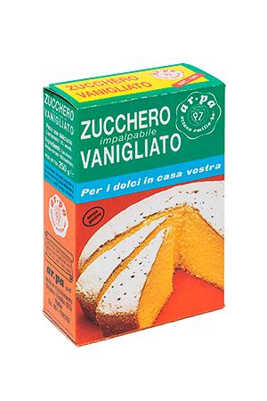 Packaging del prodotto zucchero impalpabile vanigliao