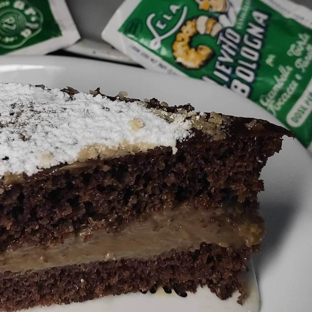 torta al caco e crema di caffè cotta in padella